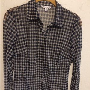 Cabi Plaid Button Down Shirt